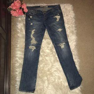 Hollister Jeans - HOLLISTER DISTRESSED DENIM